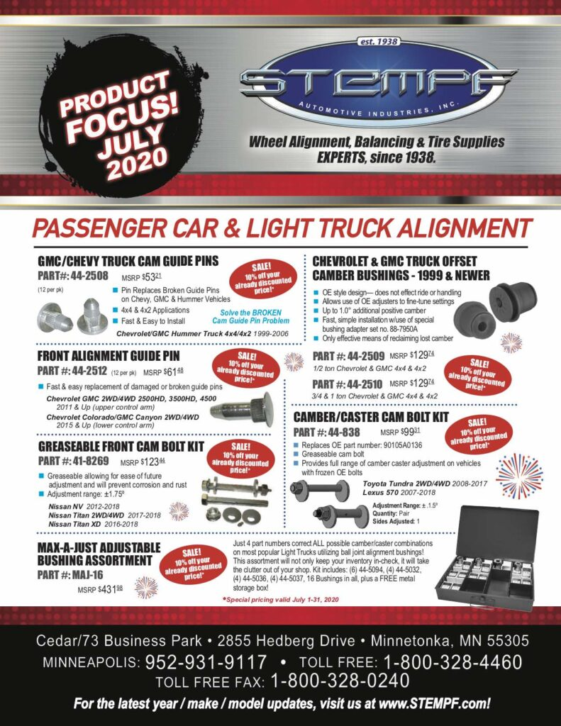Wheel Alignment Specials July 2020 STEMPF_Page 1